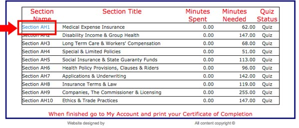 Online Insurance Prelicense Training Selecting Proper Study Section